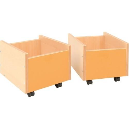 Behälter auf Rollen orange