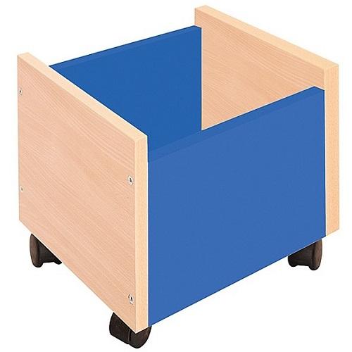 Behälter auf Rollen blau