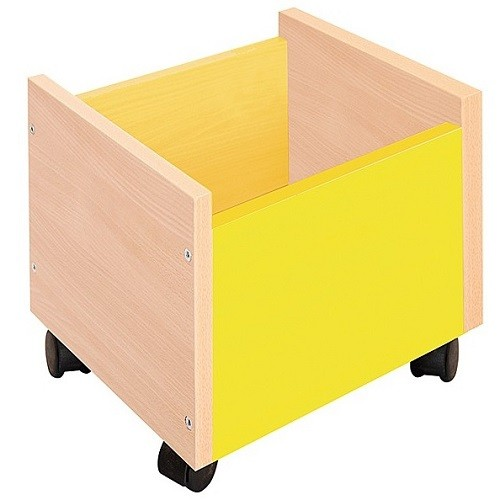 Behälter auf Rollen gelb