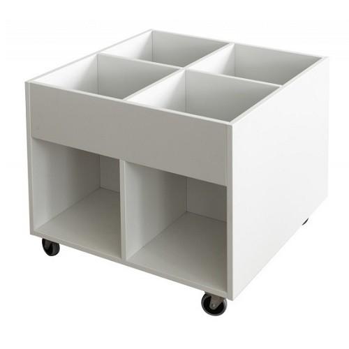 Büchertrog BOX Midi weiß