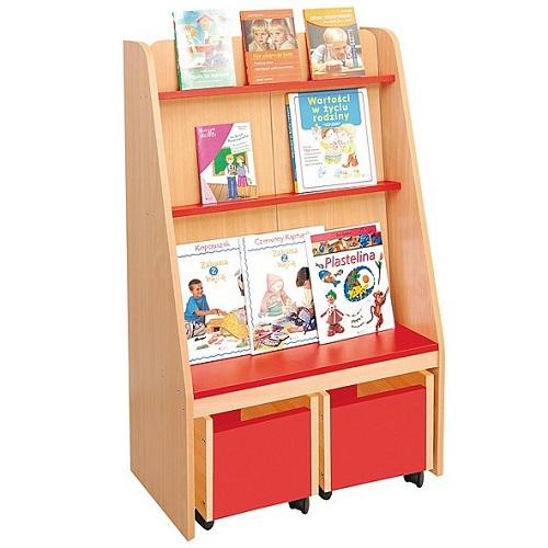 Bücherregal rot