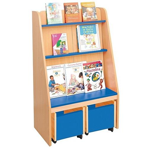 Bücherregal blau