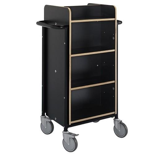 Bücherwagen Gotland Plus schwarz
