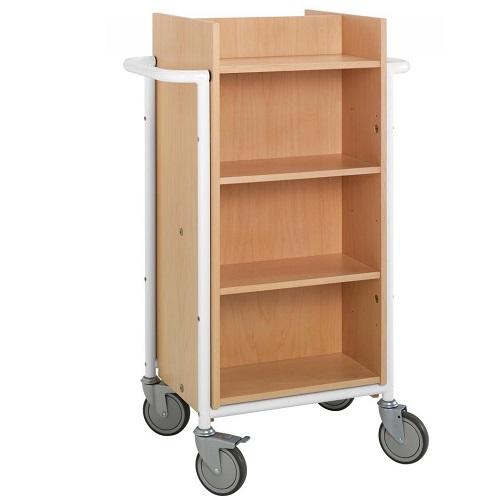 Bücherwagen Gotland buche/weiss