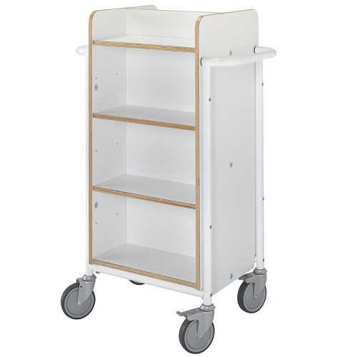 Bücherwagen Gotland Plus weiß