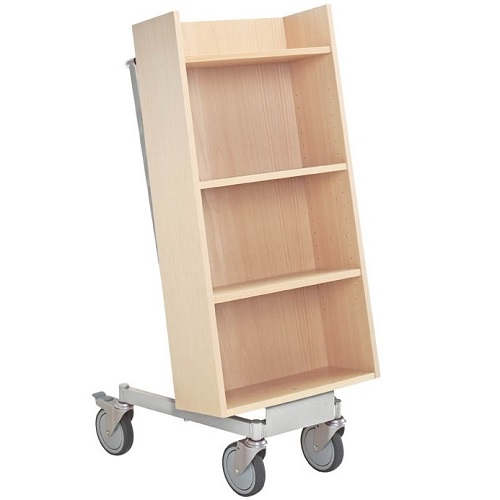 Bücherwagen Halland buche/weißaluminium