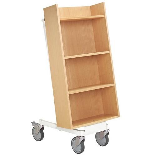 Bücherwagen Halland buche/weiß