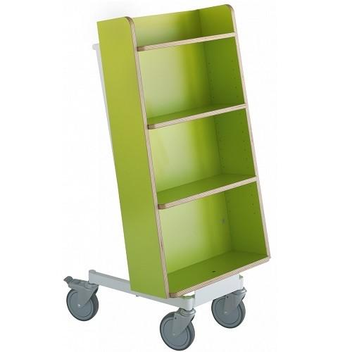 Bücherwagen Halland Plus limone/weiß