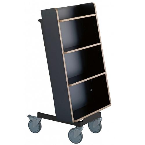 Bücherwagen Halland Plus schwarz