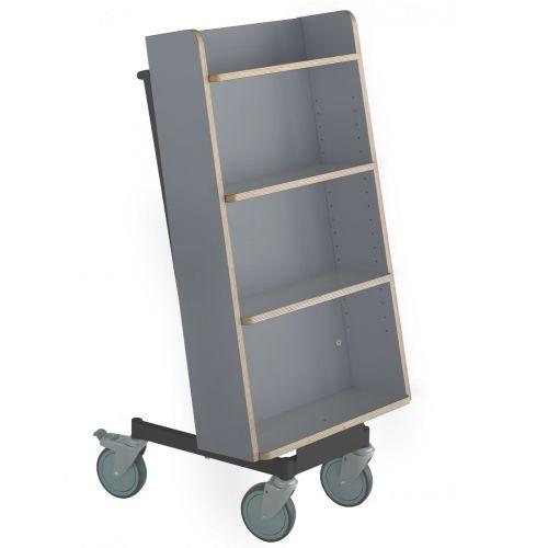 Bücherwagen Halland Plus schwarz/grau