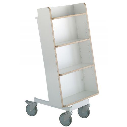 Bücherwagen Halland Plus weiß