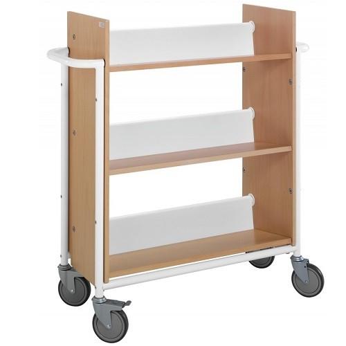 Bücherwagen Öland buche/weiß