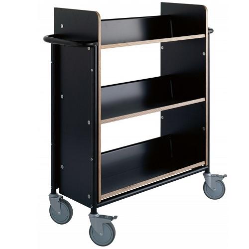Bücherwagen Öland Plus schwarz