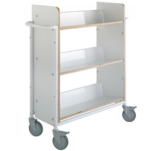 Bücherwagen Öland Plus weiß