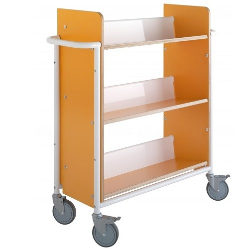Bücherwagen Öland Plus orange