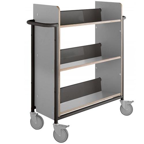 Bücherwagen Öland Plus grau