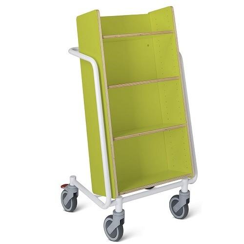 Bücherwagen Örestad Plus limone/weiß