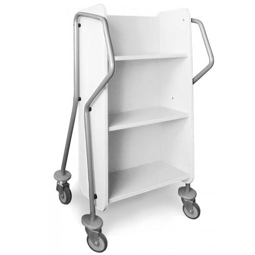 Bücherwagen Mini-Querläufer weiß