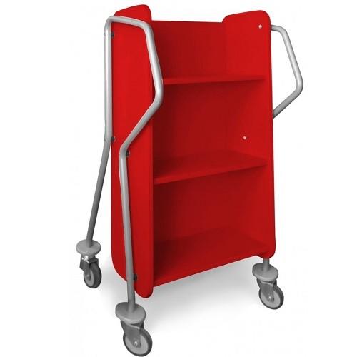 Bücherwagen Mini-Querläufer rot
