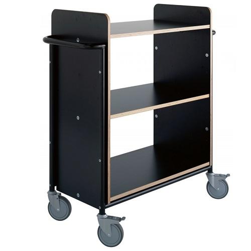 Bücherwagen Ven Plus schwarz