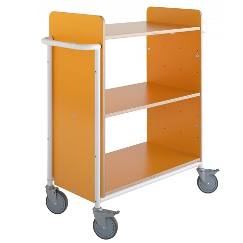 Bücherwagen Ven Plus orange