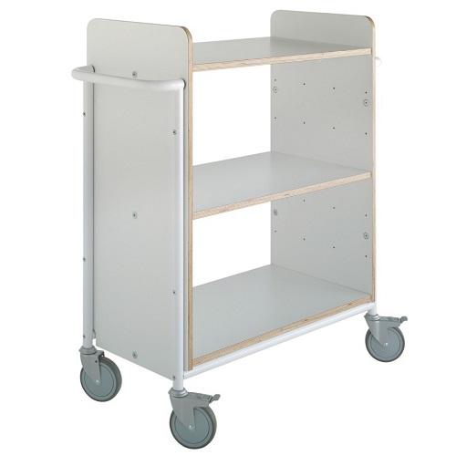 Bücherwagen Ven Plus weiß