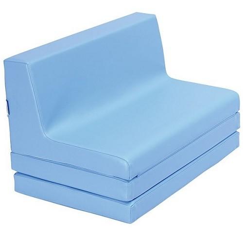 Klappbare Sitzbank blau