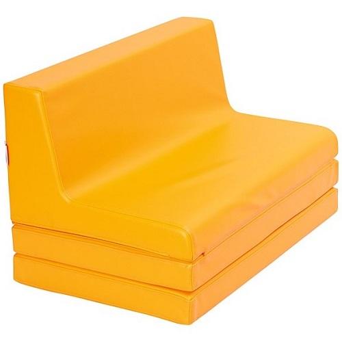 Klappbare Sitzbank orange