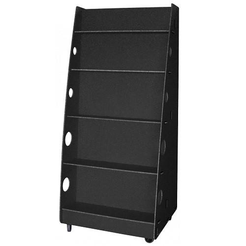 Mobiler Bücherständer schwarz