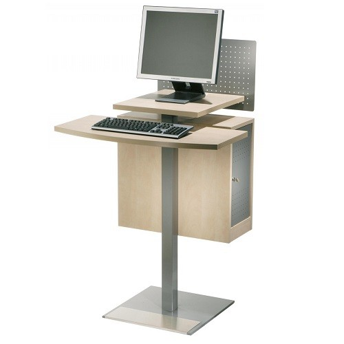 Stehpult OPAC mit Rechnergehäuse