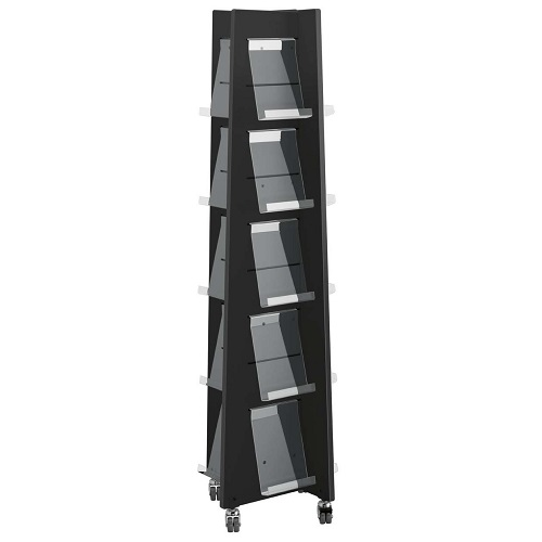 Präsentationsturm Quattro schwarz