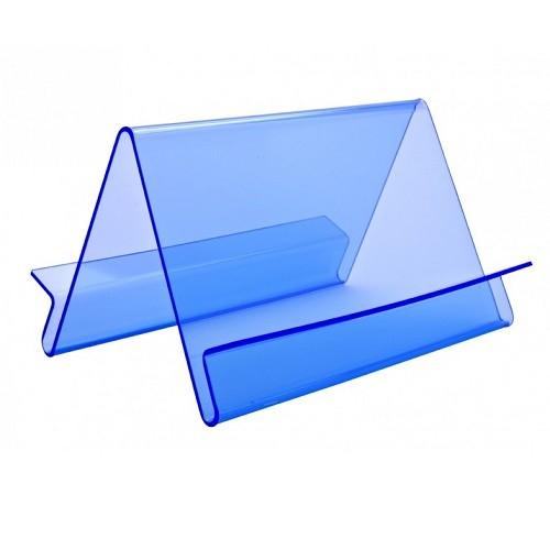 Präsentationsständer Wave doppelseitig blau