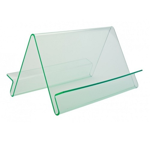Präsentationsständer Wave doppelseitig glaslook