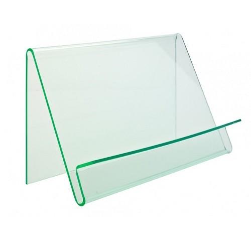 Präsentationsständer Wave einseitig glaslook