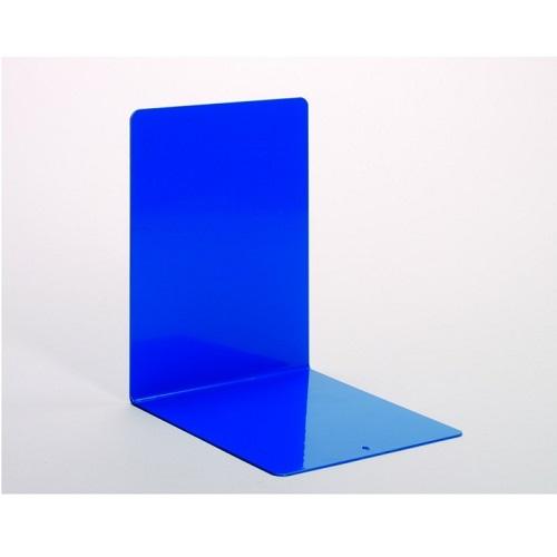 Buchstützen aus Metall blau