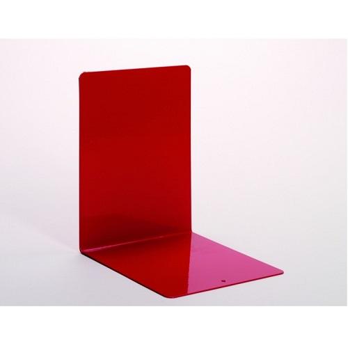 Buchstützen aus Metall rot