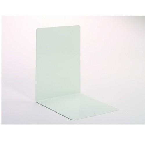 Buchstützen aus Metall weiß