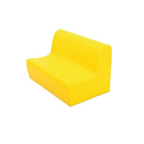 Sitzbank aus Schaumstoff gelb