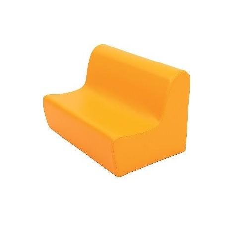 Sitzbank aus Schaumstoff orange