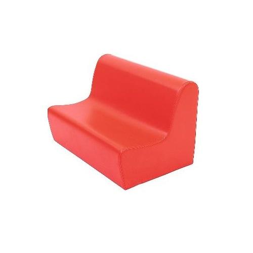Sitzbank aus Schaumstoff rot
