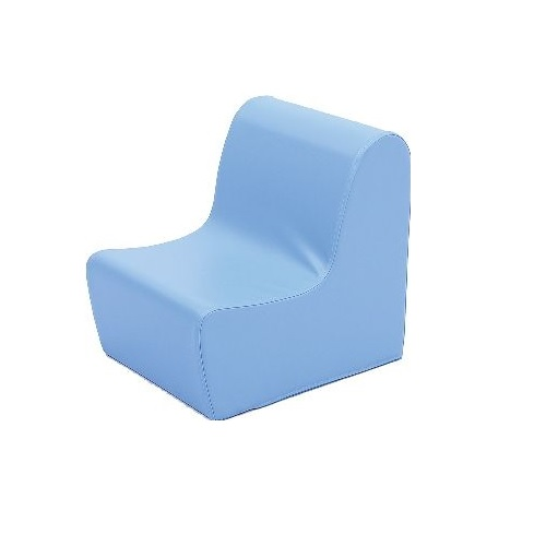 Sitz aus Schaumstoff hellblau