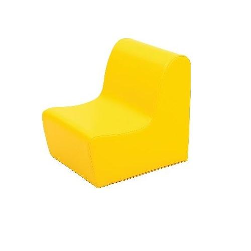 Sitz aus Schaumstoff gelb