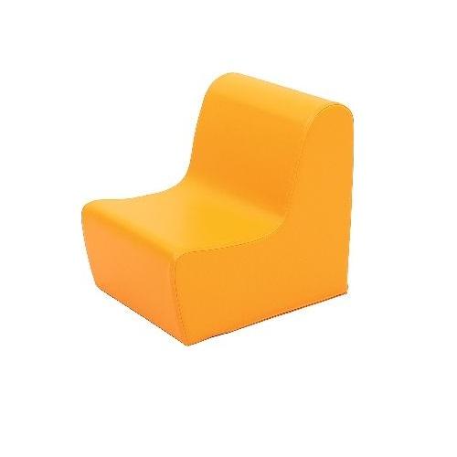 Sitz aus Schaumstoff orange