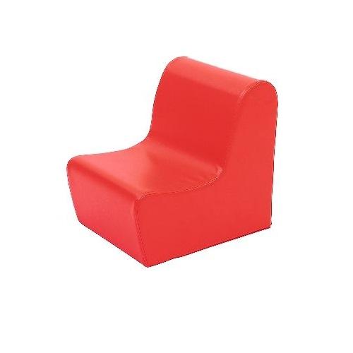 Sitz aus Schaumstoff rot