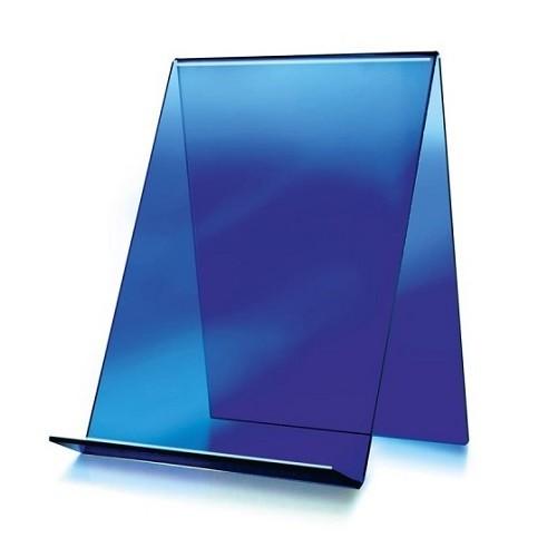 Buchständer hoch schmal blau