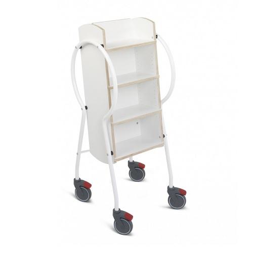 Bücherwagen Midi weiß