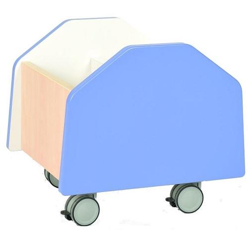 Bücherbehälter klein blau