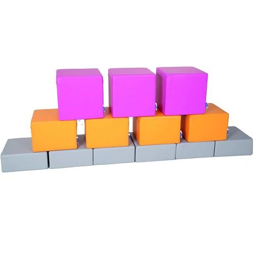Schaumstoffbaustein Set Pink