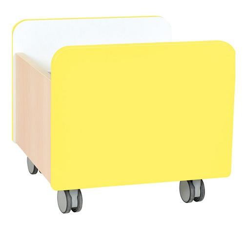 bücherbehälter mittel gelb
