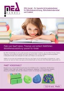 Titelbild des Flyer für Kinderpakete